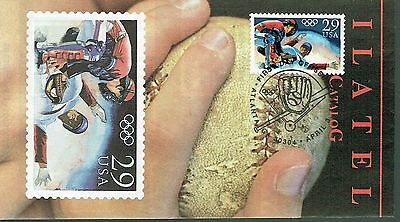 First Day Cover - Baseball, Olympics - 1992 - 1 X 29 Cent Stamp