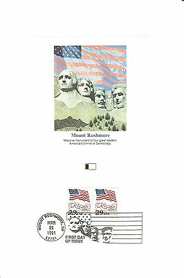 Mount Rushmore - First Day Issue - 1991 FLEETWOOD PROOFCARD