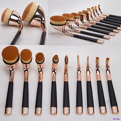 SN Rose Gold Toothbrush Golf Makeup Brushes Set Oval Cream Puff Foundation Brush