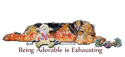 Airedale Terrier Napping Pillow Case Welsh & Lakeland Terriers. Home Accessory