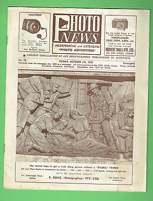 #T67. AUSTRALIAN PHOTO NEWS  MAGAZINE, OCTOBER 5th 1951