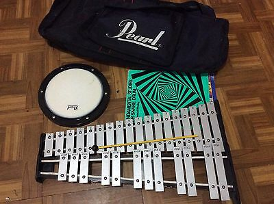 Pearl Xylophone 30 Key , Practice Pad , Case and stick ~ Used ~ Very good.