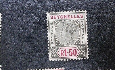 SEYCHELLES 1900 R1.5 SG 35 Sc 20 MH small hinge removed thin