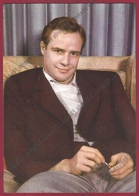 MARLON BRANDO 12 ATTORE ACTOR ACTEUR CINEMA MOVIE - USA Cartolina NON FOTOGRAF.