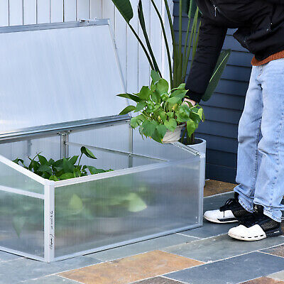 "Outsunny Portable 39"" Cold Frame Greenhouse Plant Protection Backyard Outdoor"