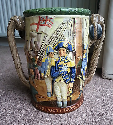 1935 Royal Doulton    Admiral Lord Nelson    Loving Cup 440 / 600  Fenton / Noke