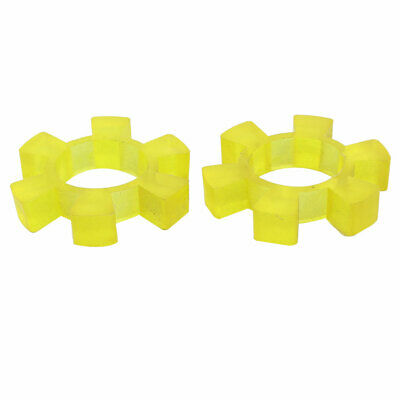 75mmx34mmx14mm Rubber 6 Teeth Spiders Coupling Coupler Dampers Yellow 2pcs