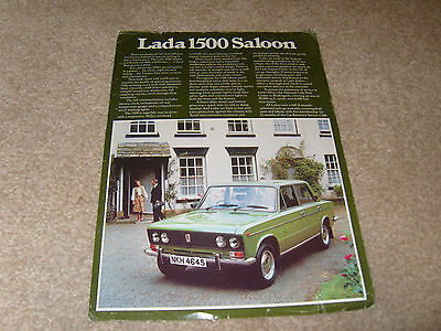 1978 LADA 1500 SALOON car sales brochure built under licence Fiat 124 by VAZ