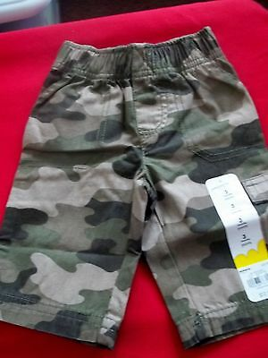 """New Baby """"jumping Beans"""" Camouflage Canvas Cargo Pants - Size 3 Months"""