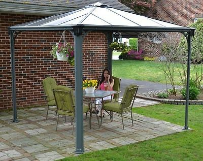 Gazebo Durable Large Outdoor Garden Canopy Patio Sun Rain 3 X 3 M