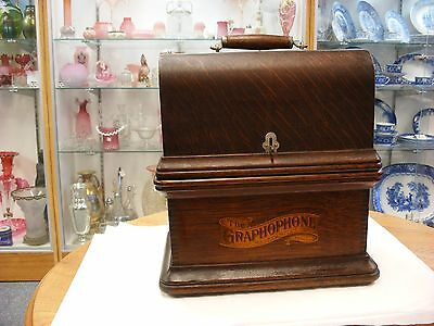 Original Columbia Graphophone Cylinder Phonograph - Model AZ - Cabinet Only