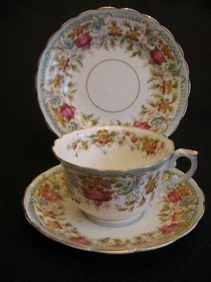 ART NOUVEAU H.M.WILLIAMSON WORCESTER CHINA CUP/SAUCER/PLATE TRIO c.1910's EX