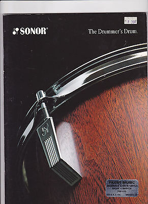 Vintage Musical Instrument Catalog #10507 -  Sonor Drums - Drummers Drum