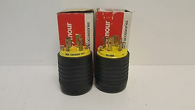 Lot Of (2) Nos! Pass & Seymour 20A 120/208Vturn-Lock Plugs 7411Ss