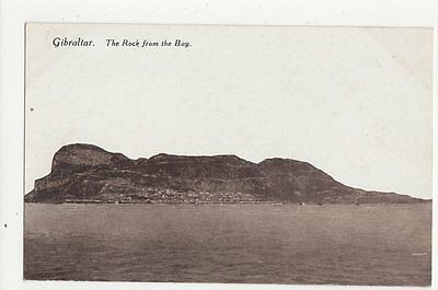 Gibraltar The Rock From The Bay Vintage Postcard  213a