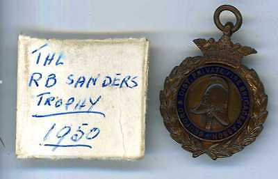 Bedford & Dist Private Fire Brigades Asson Bronze & Enamelled Medal 1950
