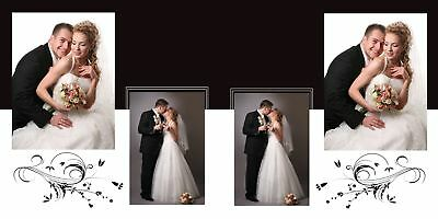 ELEGANT WEDDING PHOTO ALBUM PSD TEMPLATES Photoshop V.9 *