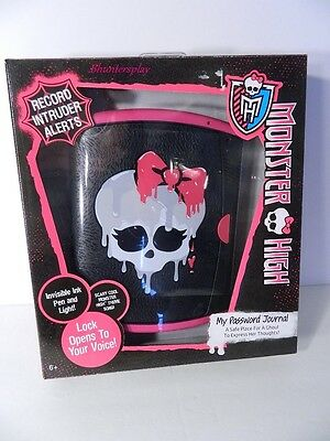 Monster High Voice Activated My Password Journal NIB
