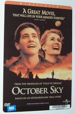 OCTOBER SKY movie backer card (a) JAKE GYLLENHAAL - this is NOT a movie