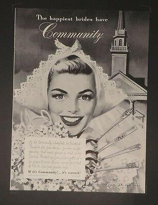 Advertising-print Original Print Ad 1946 Community Silverplate This Is For Keeps Jon Whitcomb