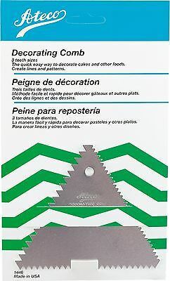 Ateco Cake Decorating Comb Aluminum for Icing/Frosting Harold Import New 1446