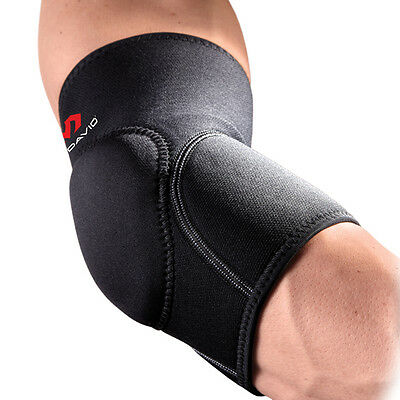 McDavid Deluxe Compression Impact Protection Elbow Sleeve With Pad, Black, Small