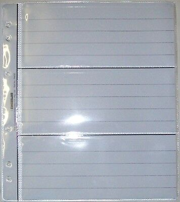 10 New Style 3 Pocket Renniks Banknote Album Pages