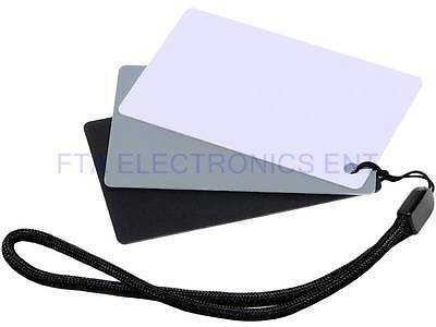 JJC 3 in 1 Three Color Digital Card Set for White Balance Adjustment with Strap