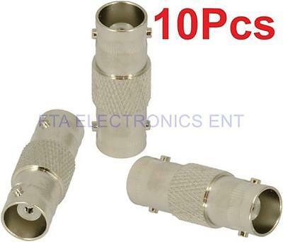 10Pcs BNC Female to BNC Female Coax Connectors Adapter Plugs Cable CCTV Cable TV