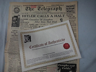 #T106. THE TELEGRAPH NEWSPAPER OF SYDNEY Tuesday July 3rd 1934 WITH C.O.A.