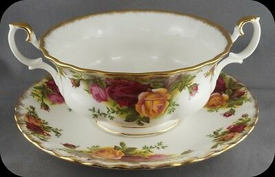 Royal Albert Old Country Roses Cream Soup Bowl England