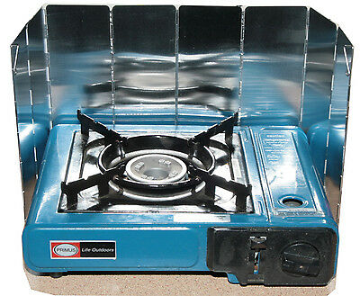 Stove windshield/splashback.8 panel hinged aluminium folds 80mm x 240mm x 10mm