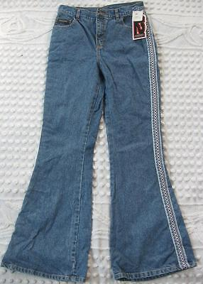 Four2one 421 American Dungarees Girls size 16 Bell Bottoms Fashion Bug Jeans NWT