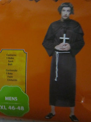 Mens XL 46-48 Halloween Costume Priest Monk Robe Sash Belt Religeous Spiritual