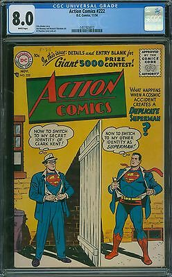 Action Comics 222 CGC 8.0 - White Pages