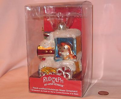 Rag Doll & Misfit Train Hand-Crafted Glass Ornament From Rudolph; By Kurt Alder