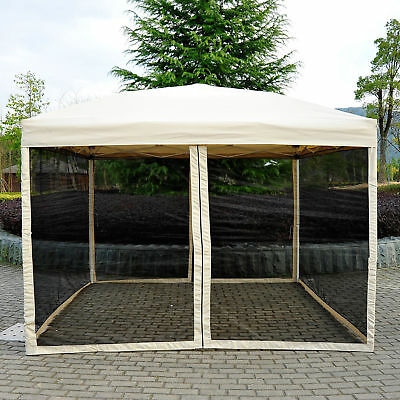 10' x 10' Canopy Party Pop Up Tent Gazebo w/ Mosquito Wedding Cater Events