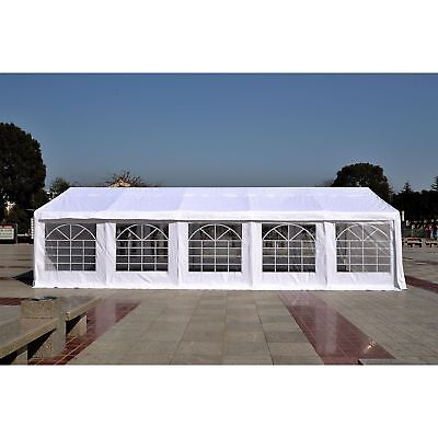 HEAVY DUTY 33' x 16' Large Carport Canopy Wedding Event Party Tent Gazebo White