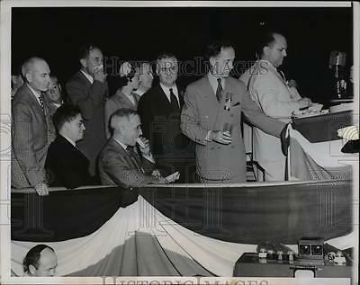 1944 Press Photo President Harry S. Truman at Acceptance Speech, Chicago Stadium
