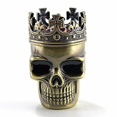 King Skull Herbal Herb Bullet Shape Tobacco Grinder Smoke Grinders Crusher Metal