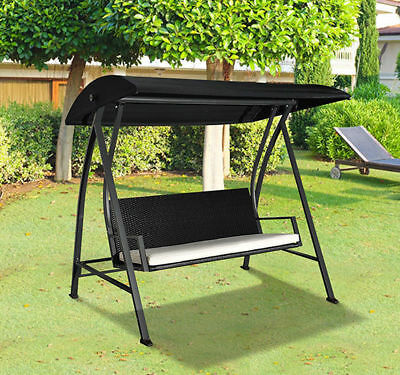 Outsunny 4 Seater Garden Swing Chair Hammock Outdoor Swinging Bench Lounger