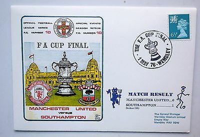 GREAT BRITAIN COVER F.A.CUP FINAL 1976 MANCHESTER UTD 0 v. SOUTHAMPTON 1