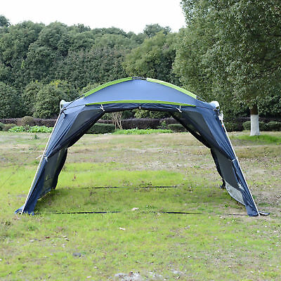5-8 Persons Camping Canopy Tent Outdoor Shelter Pop up Mesh Wall Waterproof