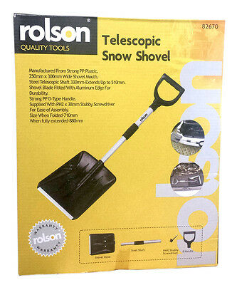Rolson Quality Tools - Winter Essential Telescopic Snow Shovel