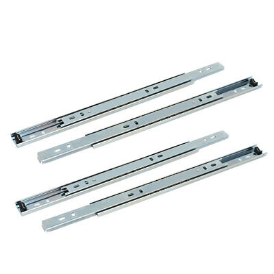 Cabinet Drawer 2-Section Telescopic Ball Bearing Slides Track 12'' Length 4pcs
