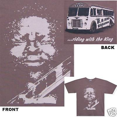 Bb B.b. King Riding With The King Brown T-Shirt Xl New Official
