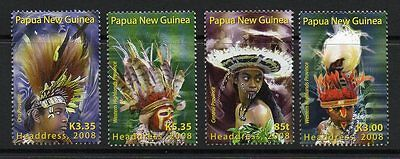 Papua New Guinea Sg1255/8 2008 Traditional Headreses Mnh