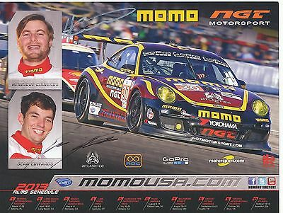 Sean Edwards † 2013 & Henrique Cisneros  Motorsport Karte signiert 290359