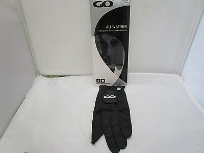 Quality All Weather Male Left Hand Black Large Golf Glove Reinforced Palm Thumb
