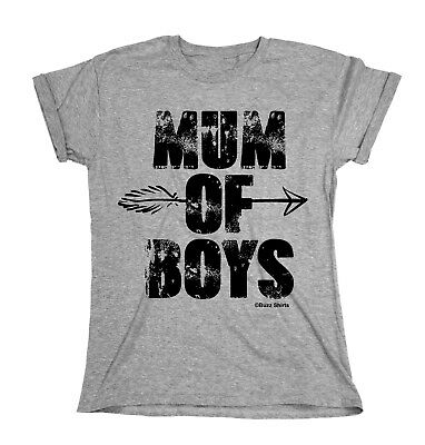 Mum Of Boys WOMENS T-Shirt MOTHERS DAY Gift For Ladies Mom Gift Top Birthday